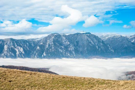 Munții Baiului de la Nord la Sud și peripeții cu câinii de stână